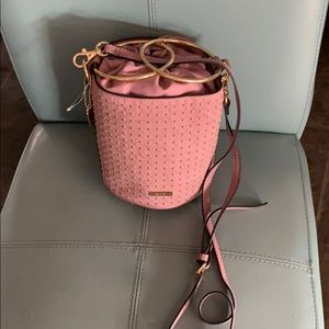 Gorgeous Pink & Gold Leather Bucket Bag